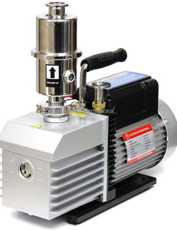 Across International EasyVac 9 cfm Dual-Stage Vacuum Pump with Oil Mist Filter
