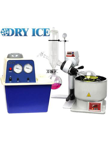 Ai SolventVap 0.5G/2L Rotary Evaporator with Cold Trap Condenser, Pump & Manual Lift-110V