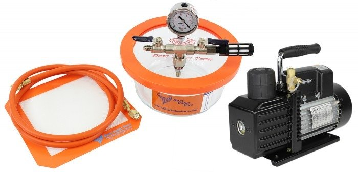Best Value Vacs 1.75 Pyrex Vacuum Chamber and VE Series Vacuum Pump Kit