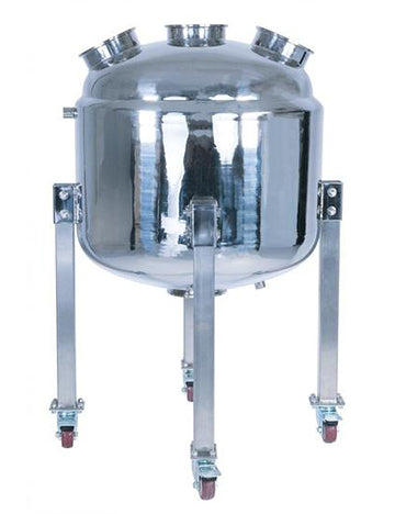 150L 304SS Jacketed Collection and Storage Vessel with Locking Casters