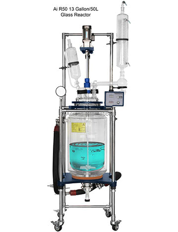 Ai 50L Single/Dual Jacketed Glass Reactor
