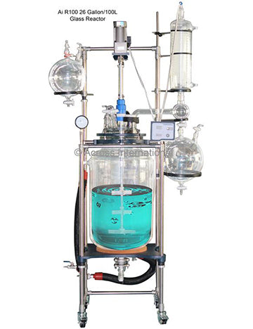 Ai 100L Single Jacketed Glass Reactor