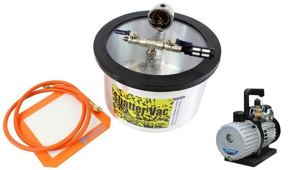 SVac 2 Gallon Aluminum Vacuum Chamber and Mastercool 3CFM 2 Stage Vacuum Pump Kit