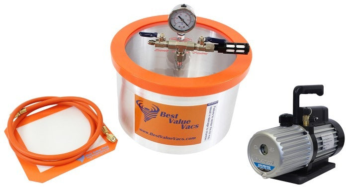 Best Value Vacs 2 Gallon Aluminum Vacuum Chamber and Mastercool 6CFM Vacuum Pump Kit
