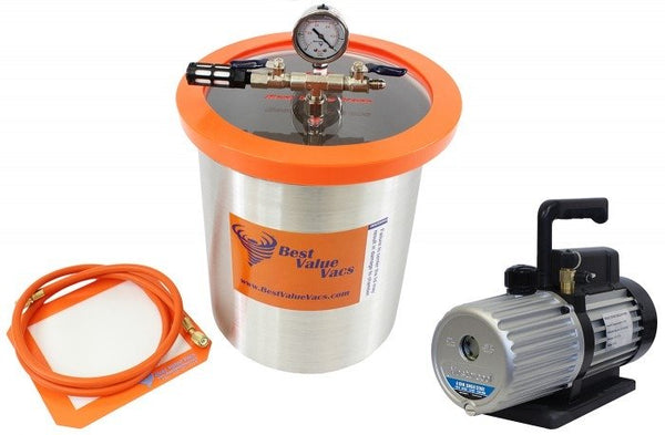 Best Value Vacs 3 Gallon Stainless Steel Vacuum Chamber and Mastercool 6CFM Vacuum Pump Kit
