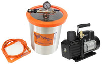Best Value Vacs 3 Gallon Stainless Steel Vacuum Chamber and VE Series Vacuum Pump Kit