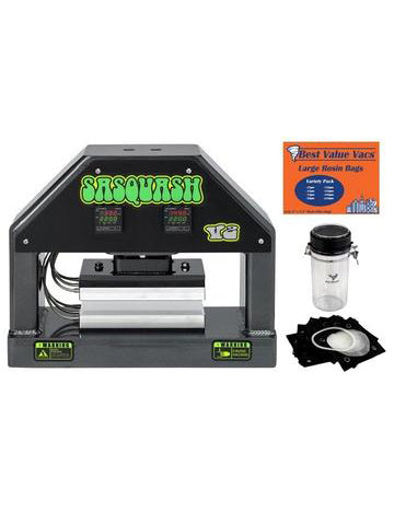 SASQUASH V2 Rosin Press Kit with FREE Dry Ice Shaker + Filter Bags + Priority Freight Shipping
