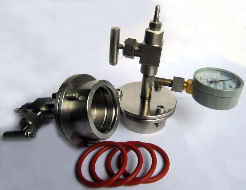 Stainless Steel Vacuum Sealing Flange Kit for 25-150mm OD Tubes
