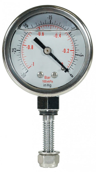Glycerine Filled Vacuum Gauge Custom, for our Chamber Lids Only