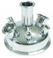 "6"" Tri-Clamp x (3) 1.5"" TriClamp x (4) 1/4"" FNPT Hemispherical Lid"