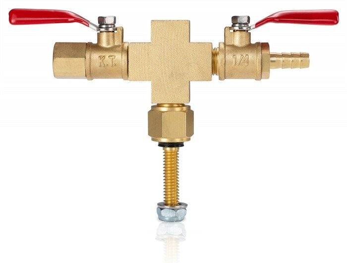 Valve Manifold - Cross with Hose Barb