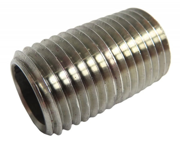 "Stainless Steel 1/4"" MNPT Pipe Nipple (Fully Threaded)"