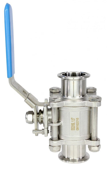 316L SS Tri-Clamp Ball Valve - Nitrogen Tested