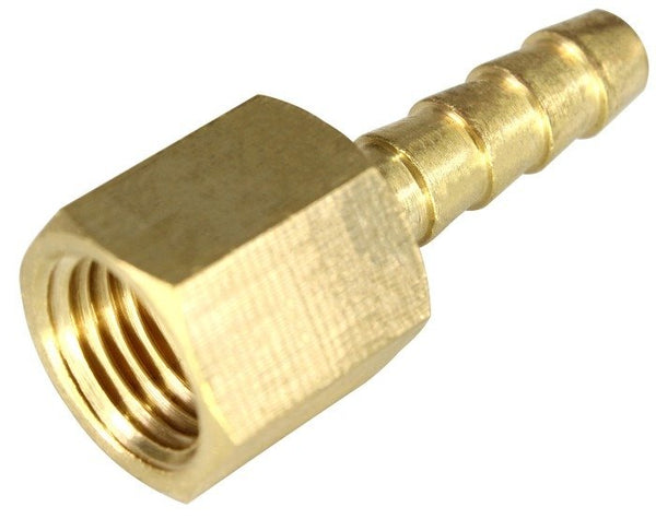 "1/4"" NPT Female to 1/4"" Barb Fitting, Fits our Hose"