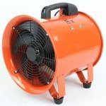 "12"" Ignition Resistant Axial Fan w/ Ducting"