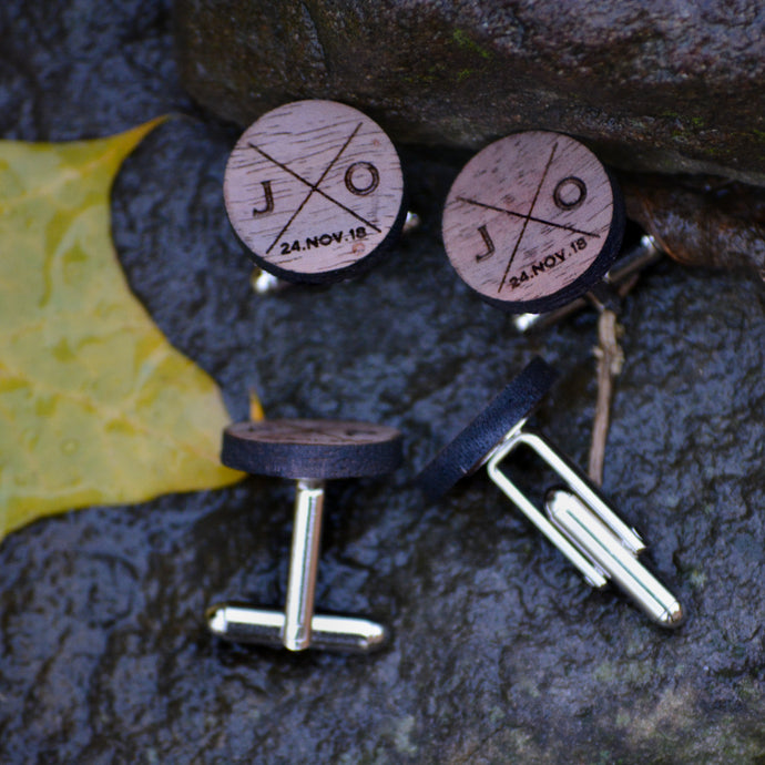 Personalized Wood Cufflinks