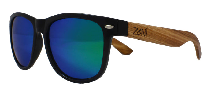 Zebra Wood Sunglasses // SHAKA