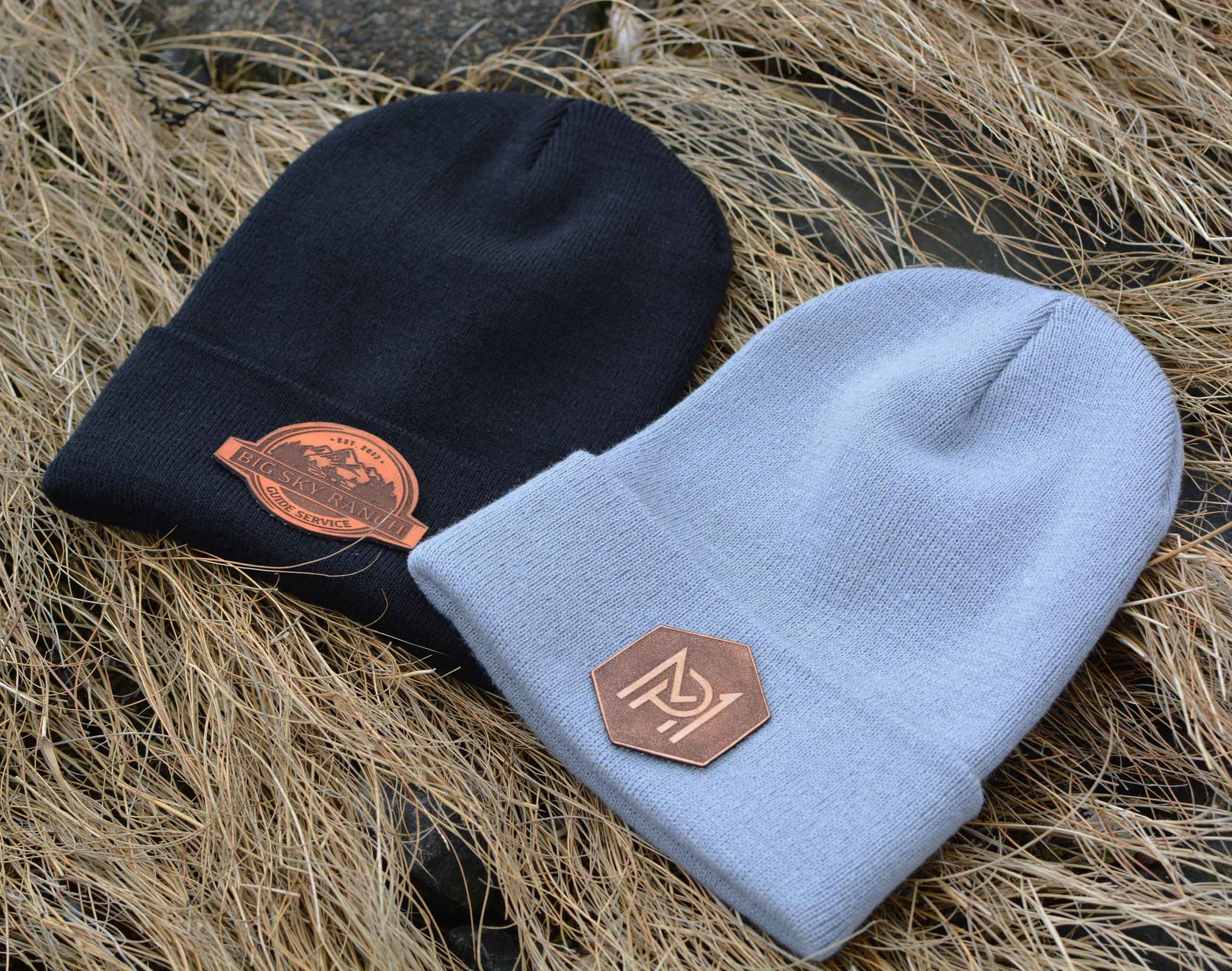 custom logo leather patch beanie zoni wear usd