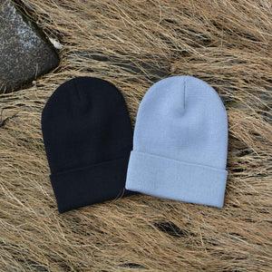 Custom Logo Leather Patch Beanie