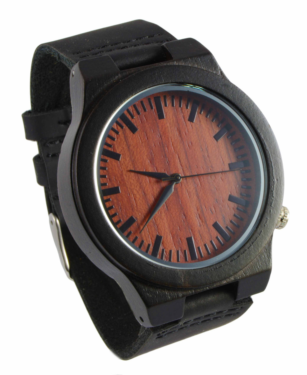 Ebony // Rose Wood Leather Band Watch