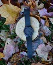 Ebony Wood Leather Band Watch