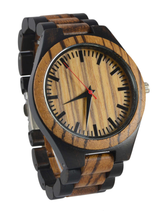 Zebra & Ebony // Wood Band Watch