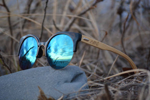 Bamboo Sunglasses // MOON BEAM