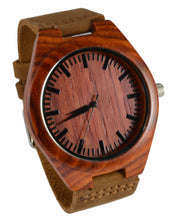 Rose Wood Leather Band Watch