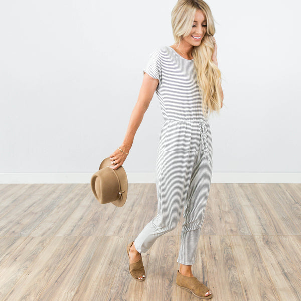 Amber Jumpsuit in Ivory