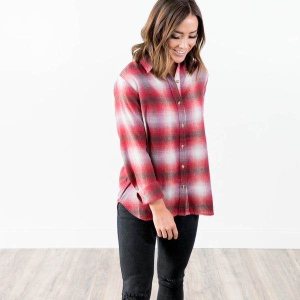 Kendra Plaid Button Up