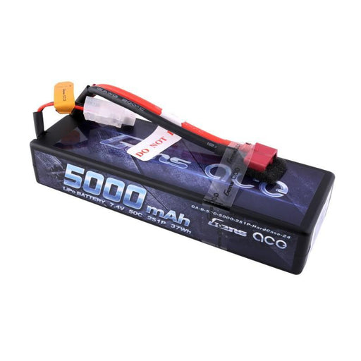 Gens Ace Battery Gens Ace GA-500050C-TPlug 5000mAh 7.4V 50C 2S1P Hardcase Lipo Battery Pack