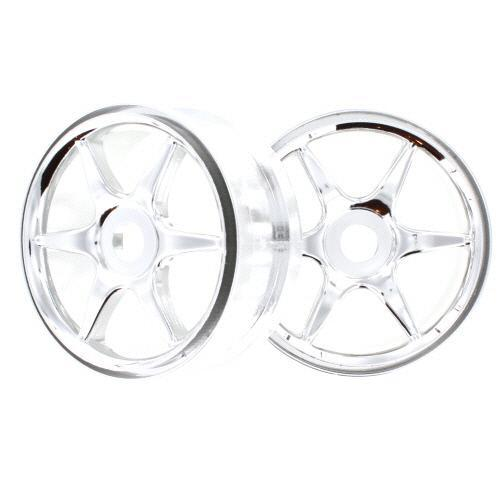 Redcat Racing Wheel Redcat Racing 81036c Chrome 6 Spoke Wheels 2Pcs