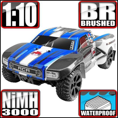 Redcat Racing Vehicle Redcat Racing Blackout SC 1/10 Scale Electric Short Course Truck - Blue
