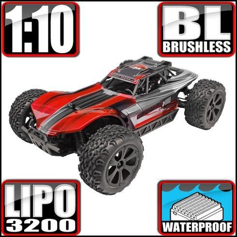 Redcat Racing Vehicle Redcat Racing Blackout XBE PRO 1/10 Scale Brushless Electric Buggy - Red