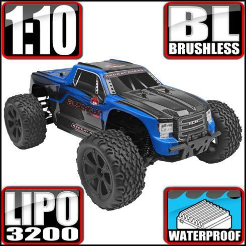 Redcat Racing Vehicle Redcat Racing Blackout XTE PRO 1/10 Scale Brushless Monster Truck - Blue