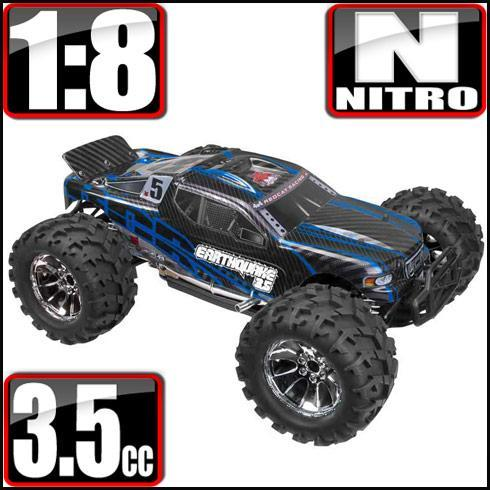 Redcat Racing Vehicle Redcat Racing Earthquake 3.5 1/8 Scale Nitro Monster Truck - Blue