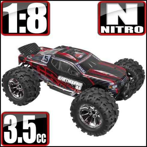 Redcat Racing Vehicle Redcat Racing Earthquake 3.5 1/8 Scale Nitro Monster Truck - Red