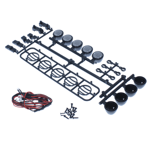 Redcat Racing Parts Redcat Racing HX-LED-001B Led Crawler Light Bar Set-Black