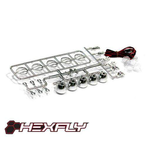 Redcat Racing LED Light Kit Redcat Racing HX-LED-002 Led Crawler Light Bar Set Chrome
