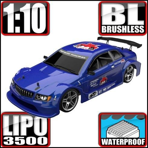 Redcat Racing Vehicle Redcat Racing Lightning EPX PRO 1/10 Scale Brushless On Road Car - Metallic Blue