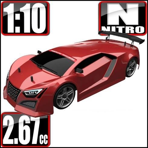 Redcat Racing Vehicle Redcat Racing Lightning STR 1/10 Scale Nitro On Road Car - Red