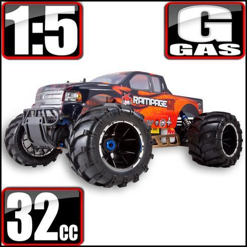 Redcat Racing Vehicle Redcat Racing Rampage MT V3 1/5 Scale Gas Monster Truck - Orange