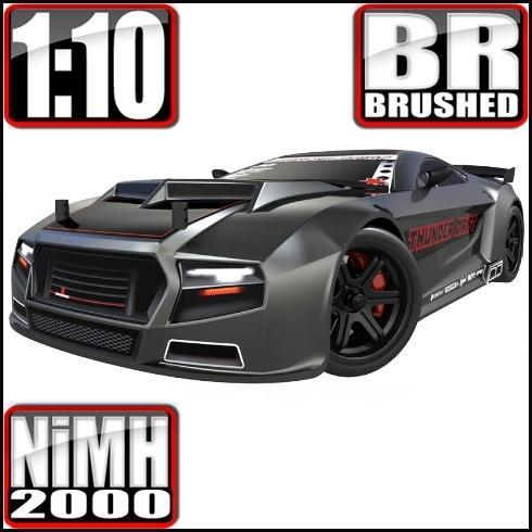 Redcat Racing Vehicle Redcat Racing Thunder Drift 1/10 Scale Belt Drive On-Road Car - Gunmetal