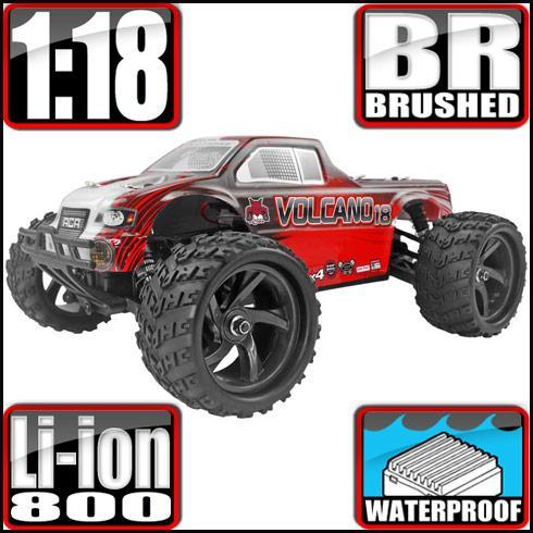 Redcat Racing Vehicle Redcat Racing Volcano-18 V2 1/18 Scale Electric Monster Truck