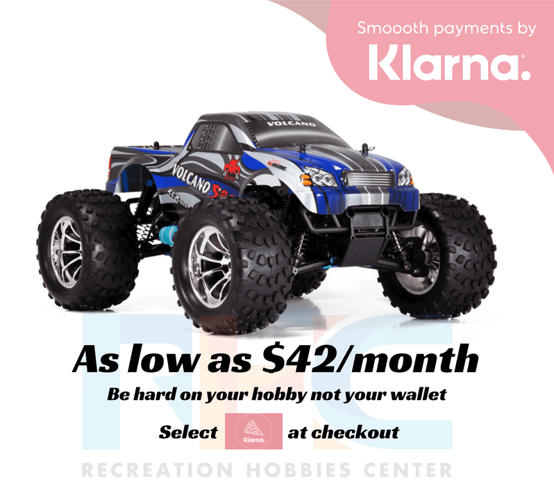 Redcat Racing Vehicle Redcat Racing Volcano S30 1/10 Scale Nitro Monster Truck - Blue / Silver