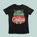 I Want A Hippo For Christmas Tee - Rend Co Kids