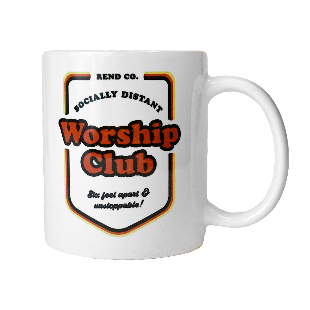 Socially Distant Worship Club Mug