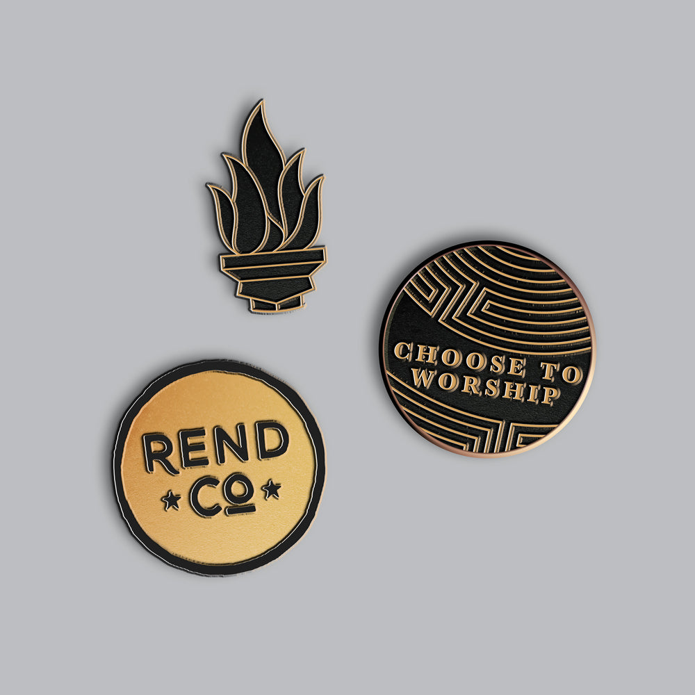 Choose to Worship Collectors Enamel Pin Set