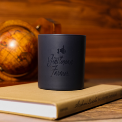 Wood Paneled Library Candle