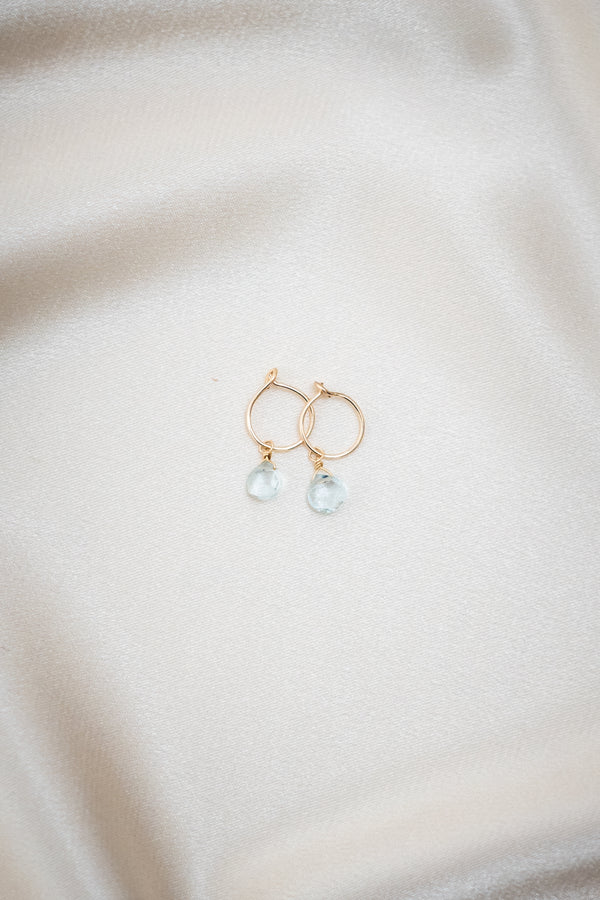Baby Blue Earrings Gold
